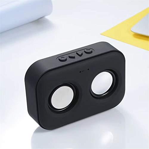 LDQLSQ Tragbarer Lautsprecher Bluetooth-Box Freisprechen Wasserdicht Drahtloser tragbarer Kartensubwoofer-Computer Drahtloser Mini-Außenlautsprecher,Black