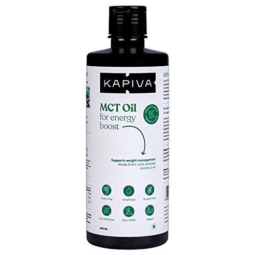 Kapiva MCT Oil, 450 ML – Unsweetened Keto Diet Supplement – Derived from Coconuts | Gluten Free | Non GMO | Vegan