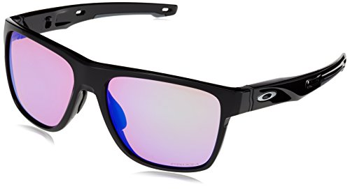Oakley Herren Crossrange XL 936004 58 Sonnenbrille, Schwarz (Polished Black/Prizmgolf)
