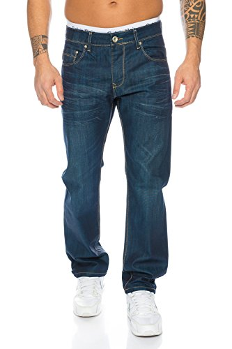 Rock Creek Herren Jeans Blau LL-308 [W32 L32]