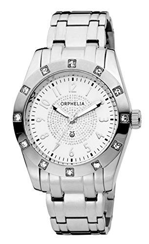 Orphelia Damen-Armbanduhr Classic Glam Analog Quarz Edelstahl