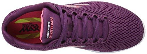 Skechers Go Train-Hype, Scarpe da Ginnastica Basse Donna Viola (Purple)