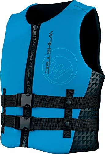 WAKETEC Neopren-Weste Mens, 50-N Prallschutz-Weste, schwarz-blau, Impact-Vest, Größen XS, S, M, L, XL, XXL, Unisex Wakeboardweste, Jet-Skiweste, Größe:M -