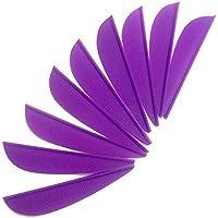SHARROW 100pcs Plumas para Flechas Plásticos Fletchings 2 Pulgadas Plumas de Flecha para la Caza con Arco (Púrpura)