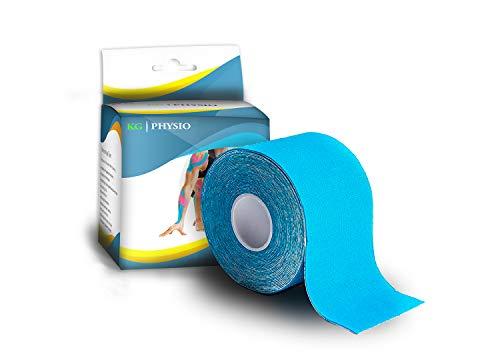 KG Physio Kinesiologie tape 5cm x 5m Rolle ungeschnittenes Kinesiotape – Bei den Bildern handelt es sich um exakte Produktfotos für eine genaue Farbdarstellung (Hellblau) - 2