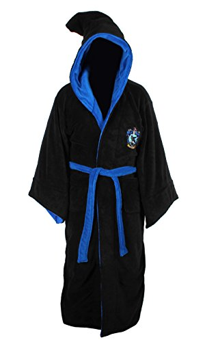 (Harry Potter All Houses Bademantel mit Kapuze, Fleece, Einheitsgröße Gr. One Size, Ravenclaw)
