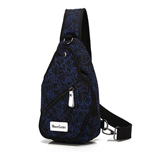 Leinwand Männer-Brust-Tasche/Diagonale lässige Herren Einzel Schulter Brust Pack/ Koreanische Welle Leinwand Herren Rucksäcke-G G