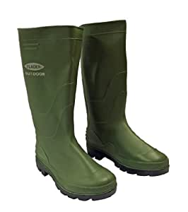 Fladen Classic PVC Boots - Green, Size 13/46