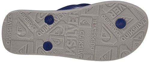 Quiksilver Molokai Nitro, Sandales Plateforme garçon Multicolour (blue/grey/blue)