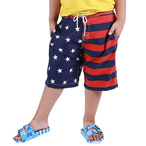 Baby Shorts,Janly Junge Kind Kinder Schwimmen Stamm Badehose Shorts (M, Blau)