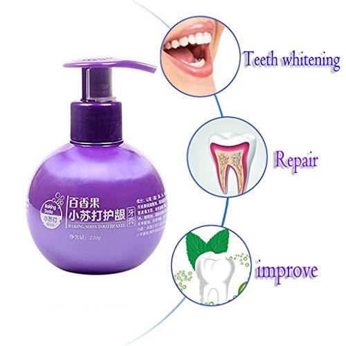 Whitening Zahnpasta,Intensive Fleckenentfernung Zahnpasta gegen Zahnfleischbluten,Zahnschmelzschutz Zahncreme Zahnaufhellung Zahnreinigung Toothpaste Weisse Zähne Kohlezahnpasta Weiße (Lila A) -