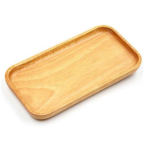 Amaoma Natürliche Holz Tabletts, Rechteckige Holzpaletten, Holzplatte, Holzutensilien, zum Anrichten als Servierteller und Serviertablett für Wurst Käse Obst Gebäck Snacks uvm | Schneidbrett aus Holz, schnittfestes Pizzabrett | für BBQ, Outdoor und Party. Natur 21 * 11 * 2cm (Holz Teller) (Natürlichen Rechteckige)