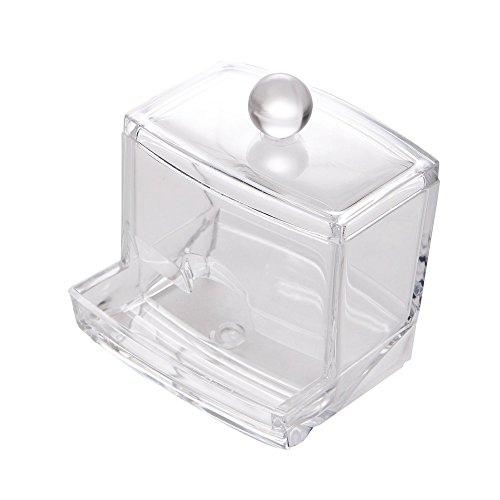 lar Baumwolle Ball Swab Halter Box Zahnstocher Halter Organizer Container Display transparent ()