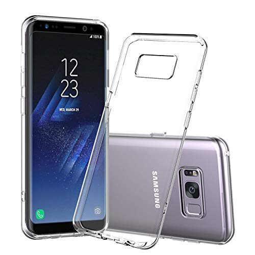 Cardana Hülle Silikon Case für Samsung Galaxy S8 Plus - dünne durchsichtige transparente Schutzhülle TPU Cover klar in Transparent Klare Schutzhülle