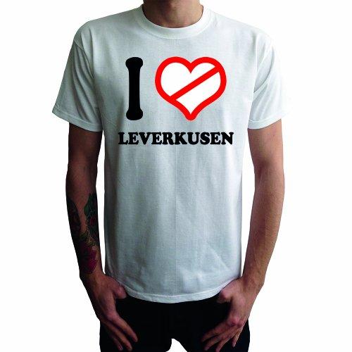 I don't love Leverkusen Herren T-Shirt Weiß