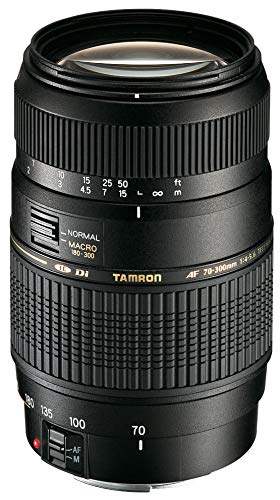 Renewed  Tamron A17E AF 70 300mm F/4 5.6 Di LD Macro Telephoto Zoom Lens with Hood for Canon DSLR Camera  Black