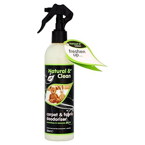 Natural & Clean Alfombras Y Desodorante Tela (300ml) (Paquete de 6)