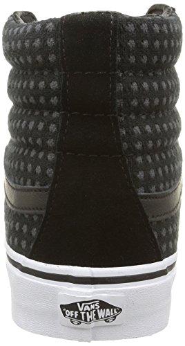 Vans Sk8-Hi, Baskets Basses Mixte Adulte Noir (Wool Dots/Black/True White)
