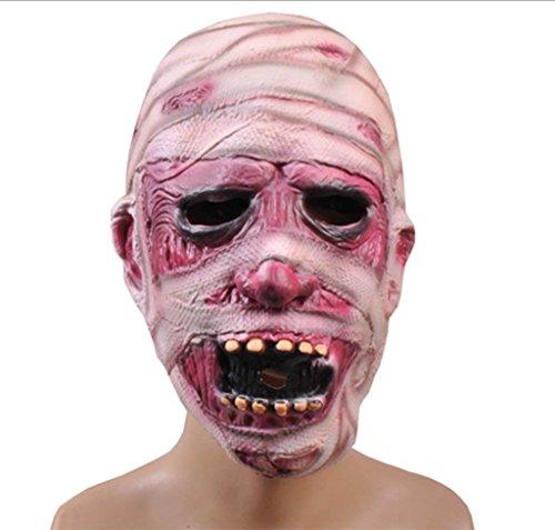 r Grimasse Maske Halloween Emulsion Maske Terror Furchtsam Maske Geister Mumie Maske- Lustige Maske (Kühlen Mumie Kostüm)