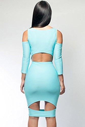 Dissa® femme Bleu SY6285 robe de cocktail Bleu