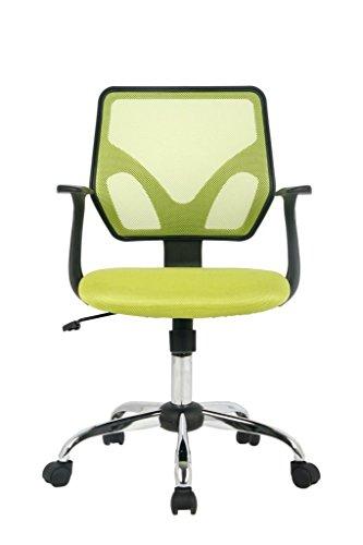 Viva Office Sedia ergonomica da ufficio in maglia con schienale medio, Verde