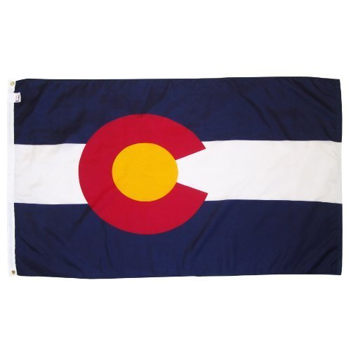 Online Stores Colorado Nylon Flag with Pole Hem, 3 by 5-Feet by Online Stores Inc.