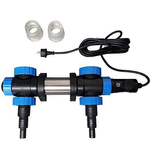 Jebao pht2000 - Jebao Teichheizung - 2000 Watt Leistung - Edelstahlkörper - mit Thermostat - Eisfreihalter - Teichheizer