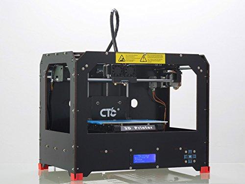 Nuova doppio estrusore stampante 3D (stampante 3D desktop nero) contenimento