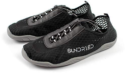 Sundried Herren Barefoot Gym Schuhe für Lauf Skipping Yoga Superleichtgewicht Sporttrainer (Euro 39, Schwarz)