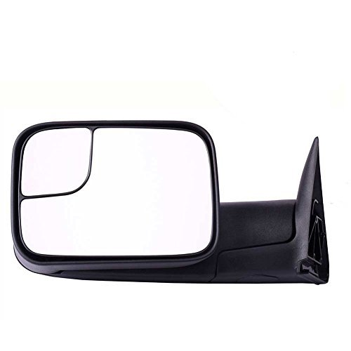DEDC Dodge Tow Mirrors Dodge Ram 1500 2500 3500 Towing Mirrors Left Drivers Side Manual Folding With Support Brackets For 1994-2002 Dodge Ram 1500 2500 3500 by DEDC (Dodge Ram 1500 1998)