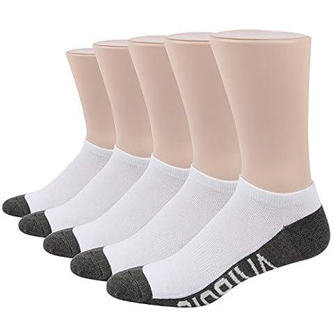 RioRiva Chaussette Homme Liner Ankle Socquette Sportive Chaussette de Sport Grande Taille (EU 41-48/US 7-13, MSK61A- 5 pairs sport)