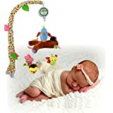 Baby Grow Baby Hand Bed Crib Musical Bell Ring Rattle Mobile Toy Infant Crib Music Cute Bird Hanging Baby Rattle Toy for Baby Gift (Pastoral Life)
