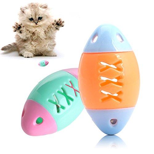 dairyshop Fun Hot Kätzchen Haustier Hund Katze Kauen Sound Toys Fischform Play Glitschige Teaser Cute (Katzen Play-box Für)