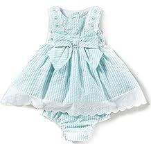 Rare Editions - Vestido Tipo Seersucker, Bordado, para bebé niña ...