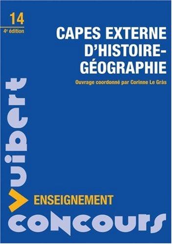 Capes externe d'histoire géographie