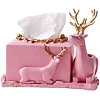 Tissue Storage box Caja de pañuelos caja de pañuelos creativa caja de pañuelos de alces sala de estar mesa de café bandeja bandeja de escritorio de múltiples funciones caja de pañuelos linda caja de p