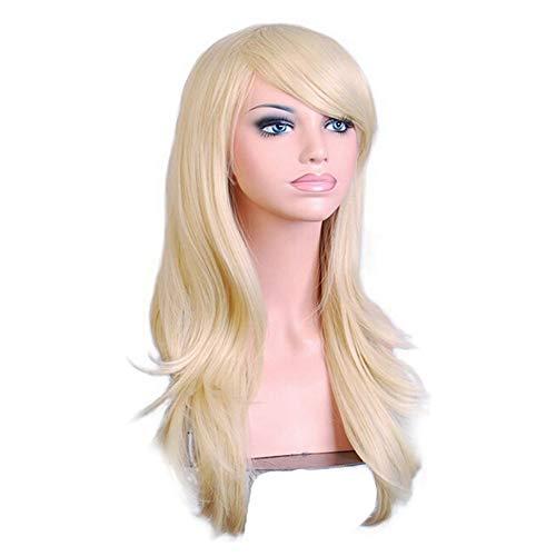 Mit Kostüm Haar Lockigem - Komfami Cosplay Perücken für Frauen, Kunsthaar Perücke für Anime Kostüm (Blond/70cm)