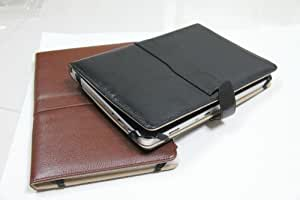 "A1CS 10"" HIGH-QUALITY BLACK LEATHER CASE FOR ASUS TRANSFORMER, HANNSPREE HANNSPAD AND OTHER 10"" / 10.1"" / 10.2"" TABLET PCS"