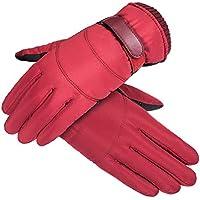 HEJIANGTAO La Parte Inferior del pie de la Motocicleta es Impermeable al Estilo de la Isla, además de los Velour éississement gants de ski en Plein Air mâle, modèles féminins Rouge