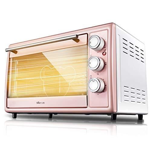 Unbekannt 30L 3-Schicht-Toaster auf der Arbeitsplatte, Mini-Pizzaofen-Bräter, Rotisserie-Ofen, Easy Bake-Ofenmischungen, Backgeschirr für den Ofen, Pink (Toaster Ofen-arbeitsplatte)