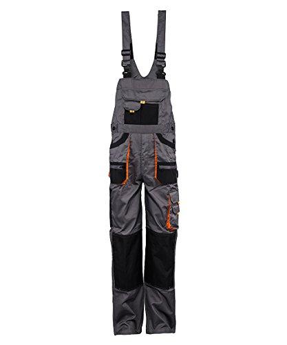 Stenso Des-Emerton - Salopette da lavoro - uomo - grigio/nero/arancione - 50