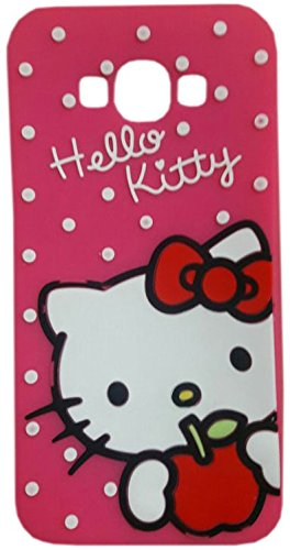 MACC Designer 3D Disney Soft Silicon Back Cartoon Cover Case For Samsung Galaxy Core 2 / Core2 / SM-G355H / G355H - Hello Kitty With Apple DPINK  available at amazon for Rs.349