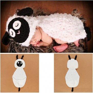 Baby Kostüm Crochet - Baby-Säuglings Sheep Crochet Kostüm Fotografie Prop-Bekleidung