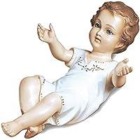 L.L.L. - Gesù Bambino cm. 27 con Occhi In Cristallo