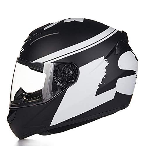 MetHlonsy Caschi da Motociclista Fashion Design Caschi integrali da Gara omologati ECE DOT 13 XXL