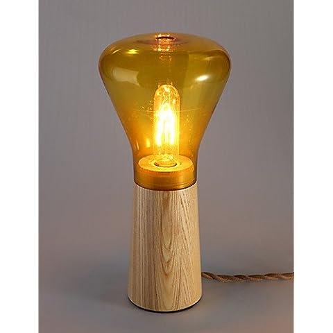 Reflector moderno modelo de lámpara de mesa de madera color madera mesas de luz dormitorio escritorio leyendo iluminación , 220-240 V