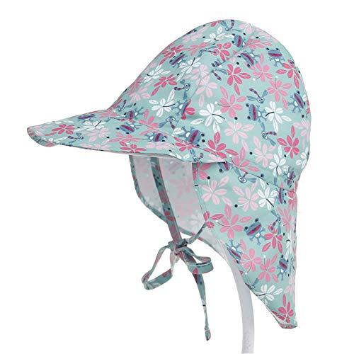 PoeHXtyy Baby-Flap-Sonnenschutzhut mit Unisex-Verstellbarer Badehut-Kappe Wind Flap