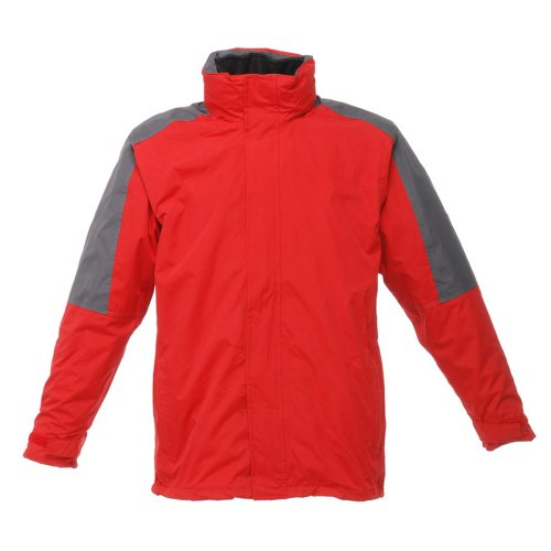 Regatta Mens Defender III 3 in 1 Breathable Waterproof & Windproof Jacket Classic Red/Seal Grey