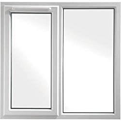 uPVC DOUBLE GLAZED WINDOW - A Rated - White - 1190 x 1190mm - Clear - 2 Panel Left Hung