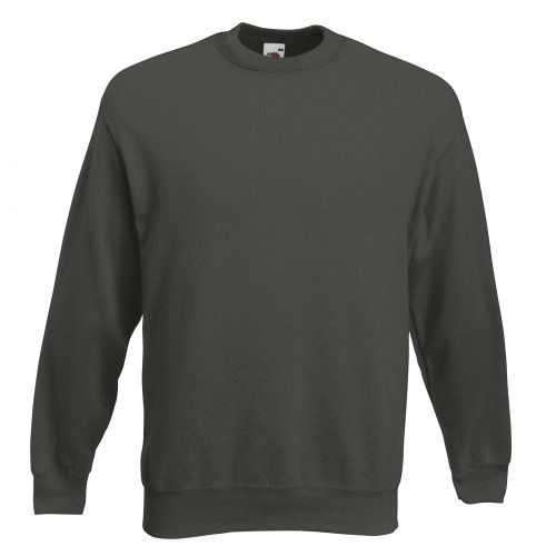 Fruit of the Loom Herren Sweatshirt Premium Set-In Sweat 62-154-0 Charcoal L